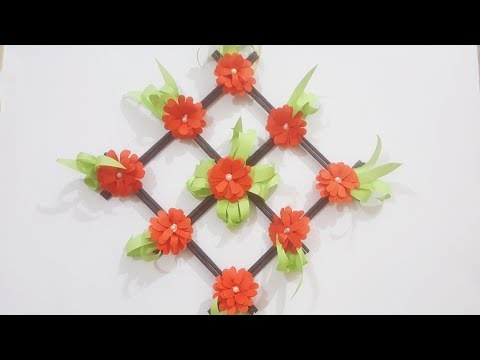 diy---paper-wall-hanging-|-wall-hanging-flower-|-home-decoration-||