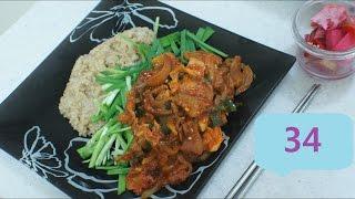 Жареная острая свинина по-южнокорейски / [Sub] Korean spicy fried pork with rice / [자막] 제육덮밥