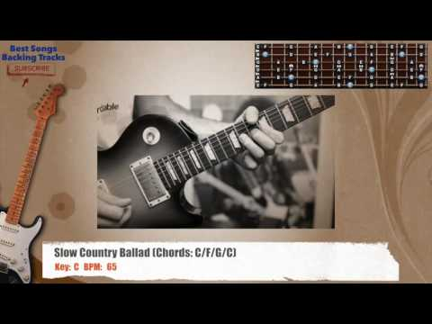Slow Country Ballad in C Guitar Backing Track