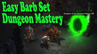 d3 easiest barbarian set dungeon mastery season journey mastermind
