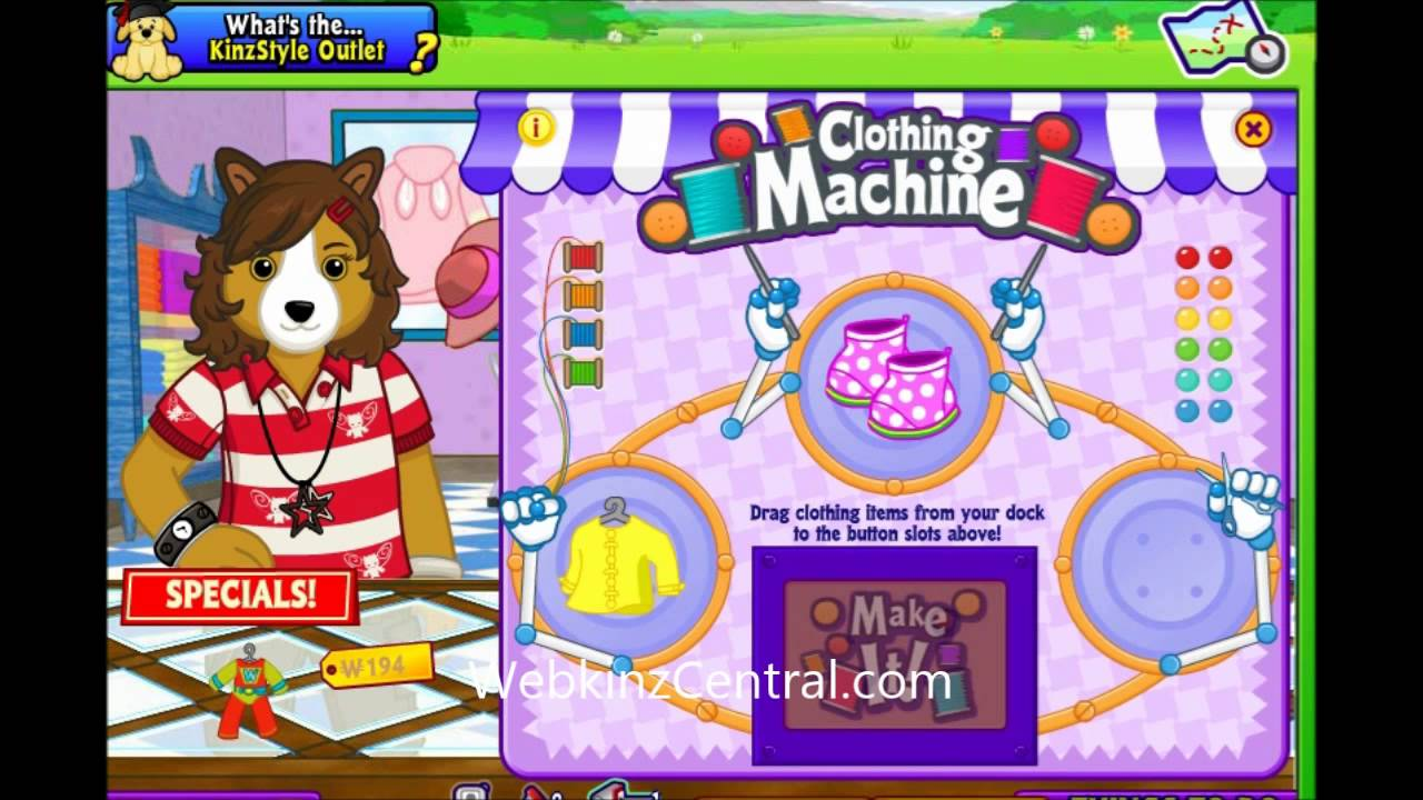 clothing machine webkinz recipes solved