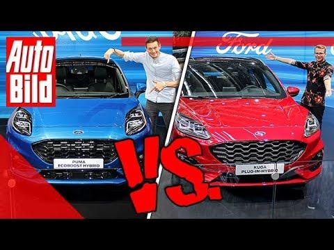 Ford Puma vs. Ford Kuga (2019): Auto - Vergleich - SUV - Neuvorstellung - IAA