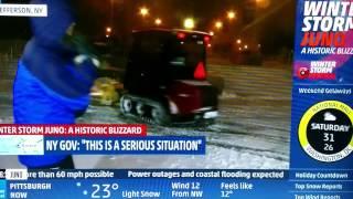 New York City Blizzard Juno 2015: Snow Plow Donuts