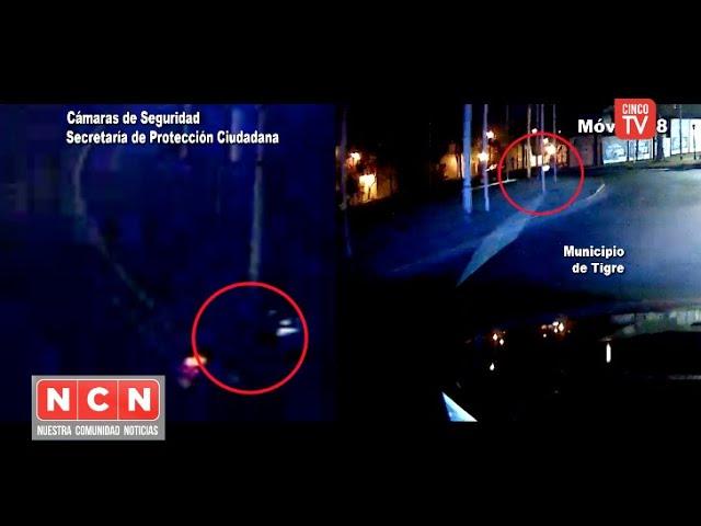 CINCO TV - Las cámaras del COT registraron el violento choque de un motociclista