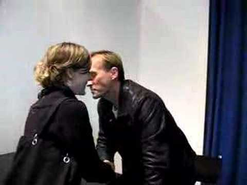 Getting kissed by Robert Knepper