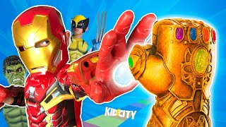 Capture the Infinity Gauntlet! Marvel Superheroes Gear Game: Avengers, Wolverine & Spider-Man