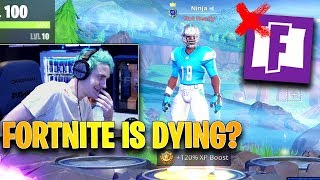 Ninja Responds to Haters Saying That Fortnite is DYING... | Fortnite Highlights & Funny Moments