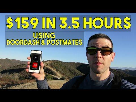 $159 IN 3 5 HOURS | DoorDash & Postmates Delivery Apps