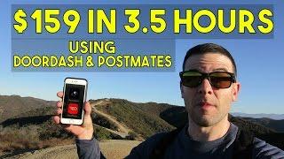 $159 IN 3.5 HOURS | DoorDash & Postmates Delivery Apps | YUUUUGE Tips - Better Than Uber!