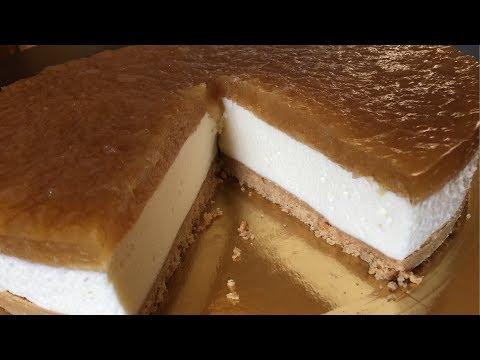 NO BAKE   APPLE CHEESECAKE RECIPE | HOW TO MAKE CHEESECAKE | MASCARPONE CHEESECAKE RECIPE