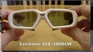 SainSonic SSZ-200DLW 3D Glasses : Blu-ray movies : Unboxing Review