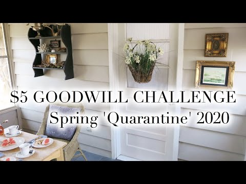 $5 GOODWILL CHALLENGE | Spring 'Quarantine' 2020   YouTube