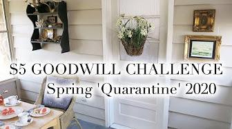 Goodwill Bonus For Christmas 2020 $5 GOODWILL CHALLENGE   SPRING 2020   YouTube