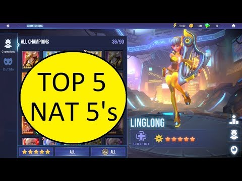 TOP 5 NAT 5'S - DUNGEON HUNTER CHAMPIONS - DHC