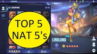 TOP 5 NAT 5S   DUNGEON HUNTER CHAMP ONS   DHC