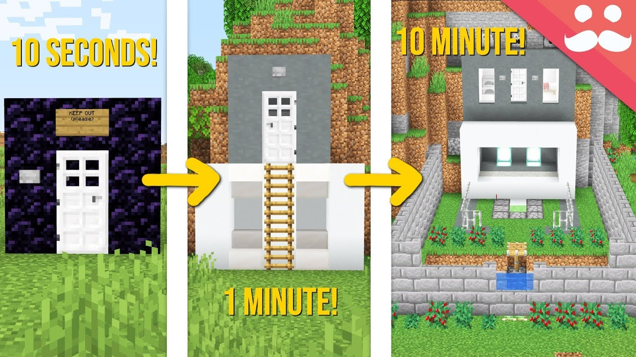 Minecraft SAFE HOUSE: 100 Minute, 10 Minute, 100 Seconds!