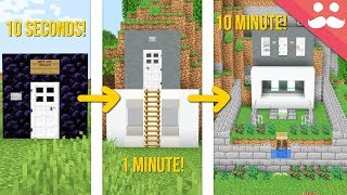 minecraft safe house 10 minute 1 minute 10 seconds