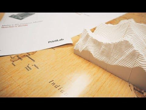 3D Printing Lesson Plan Overview | Make a 3D Contour Model