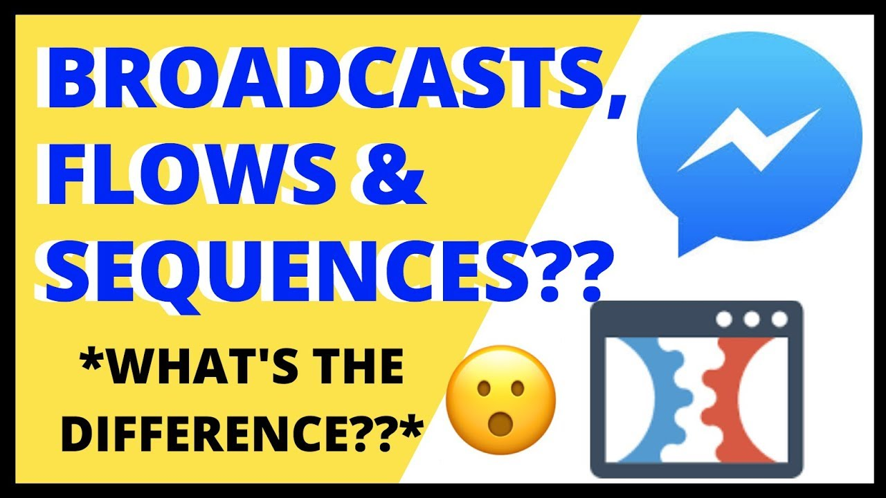 MANYCHAT BROADCASTS, SEQUENCES & FLOWS - What's the Difference? | ManyChat Tutorial 2018
