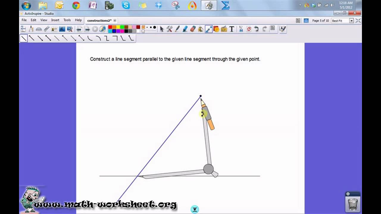 Worksheets Geometric Constructions Worksheet geometry constructions line segment hard youtube math worksheets