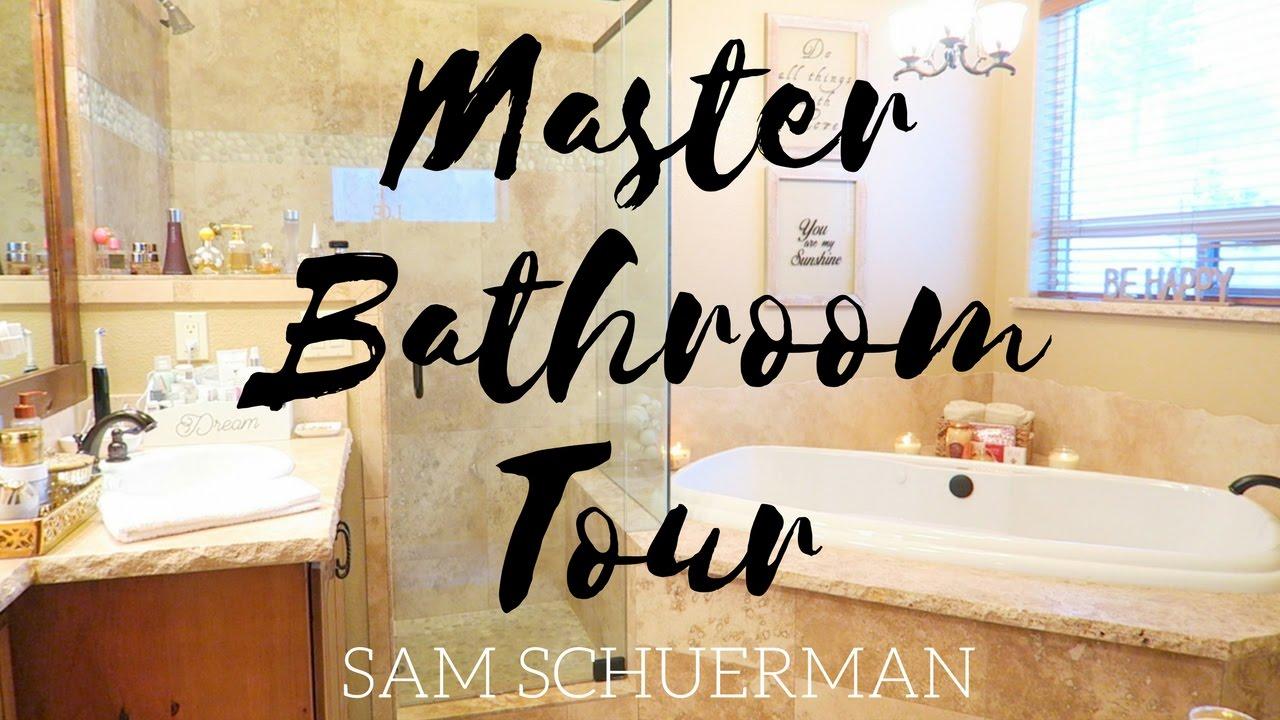 Master bathroom tour samantha schuerman youtube for Megan u bathroom tour