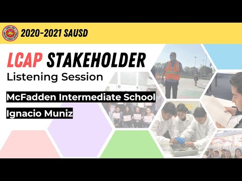 McFadden Intermediate School - (English) LCAP Meeting Spring 2021