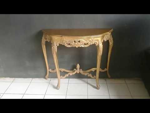 antique gold classic console table for living room