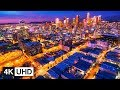 🔥 4K Drone | Los Angeles, California Travel Time Lapse: Night Downtown, Hollywood, Santa Monica