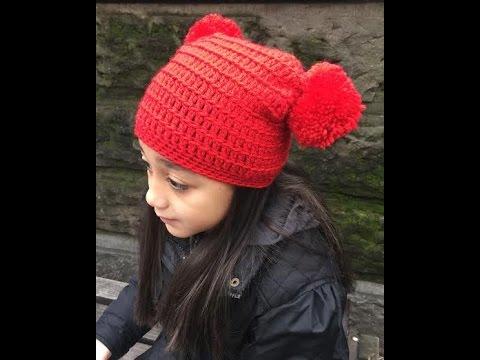 How To Crochet The Wintery Square Pom Pom Tutorial - YouTube