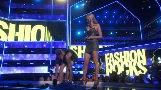 Justin Bieber and Lara Stone at 'Fashion Rocks'