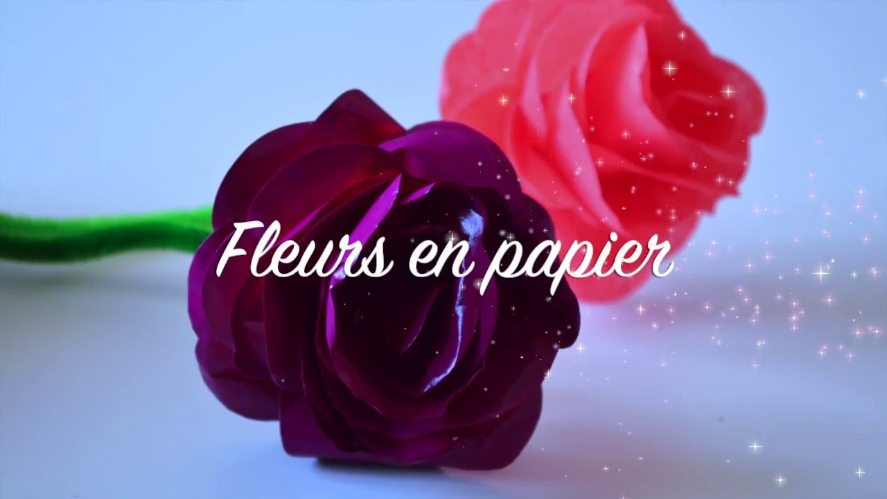 diy fleur en papier activit cr ative cadeaux f te des meres youtube. Black Bedroom Furniture Sets. Home Design Ideas