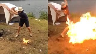 Kids Hitting Golf Balls on Fire Goes HORRIBLY Wrong