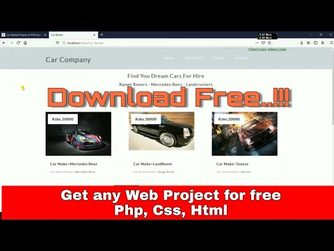 How To Get Web Project For Free Css, Php, Html, Mysql | Download For Free