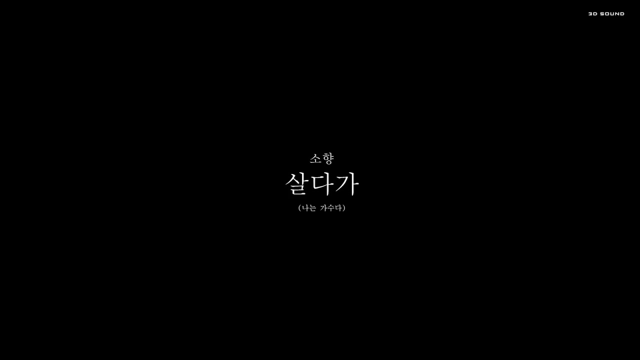 [3D Sound] Sohyang ( 소향 ) -  살다가 (스타디움 컨셉) 🎧