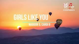Girls Like You (Lyrics) ft. Cardi B - Maroon 5