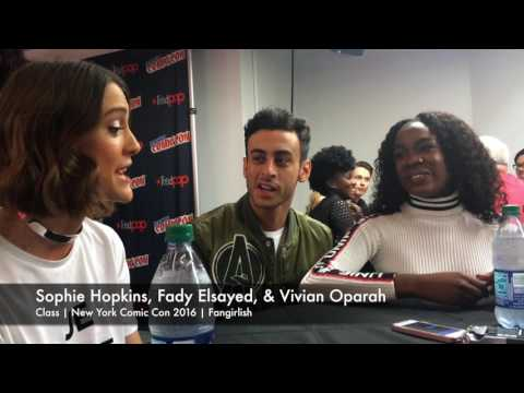 'Class' NYCC 2016   Sophie Hopkins, Fady Elsayed, & Vivian Oparah