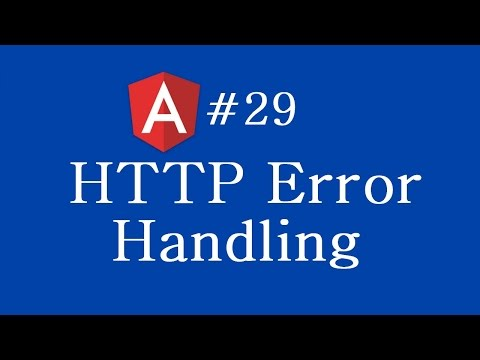 Angular 2 Tutorial - 29 - Http Error Handling