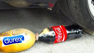 CRUSHING CRUNCHY & SOFT THINGS BY CAR! EXPERIMENT:Car vs HUGE ICE CREAM and Cocacola, Fanta Balloons