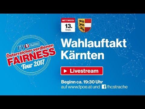 Komplettaufzeichnung: Fairness-Tour Landeswahlauftakt Kärnten
