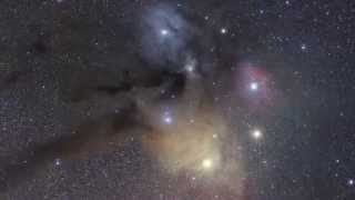 cosmic dust gathers around star - awesome animation
