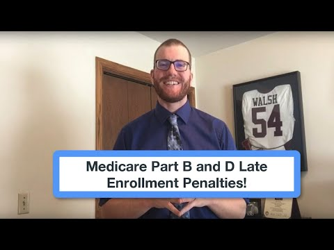 Medicare Part B and D Late Enrollment Penalty