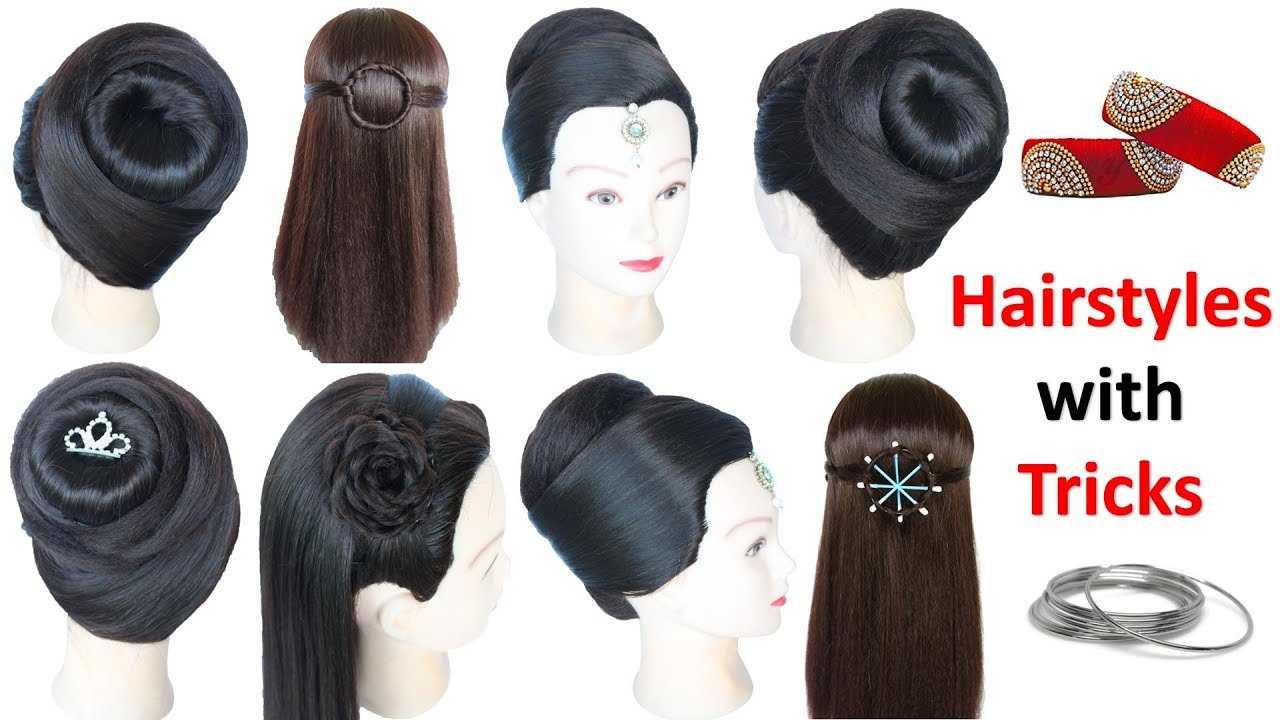 6 Easy Hairstyles With Using Bangle Juda Hairstyle Hair Style
