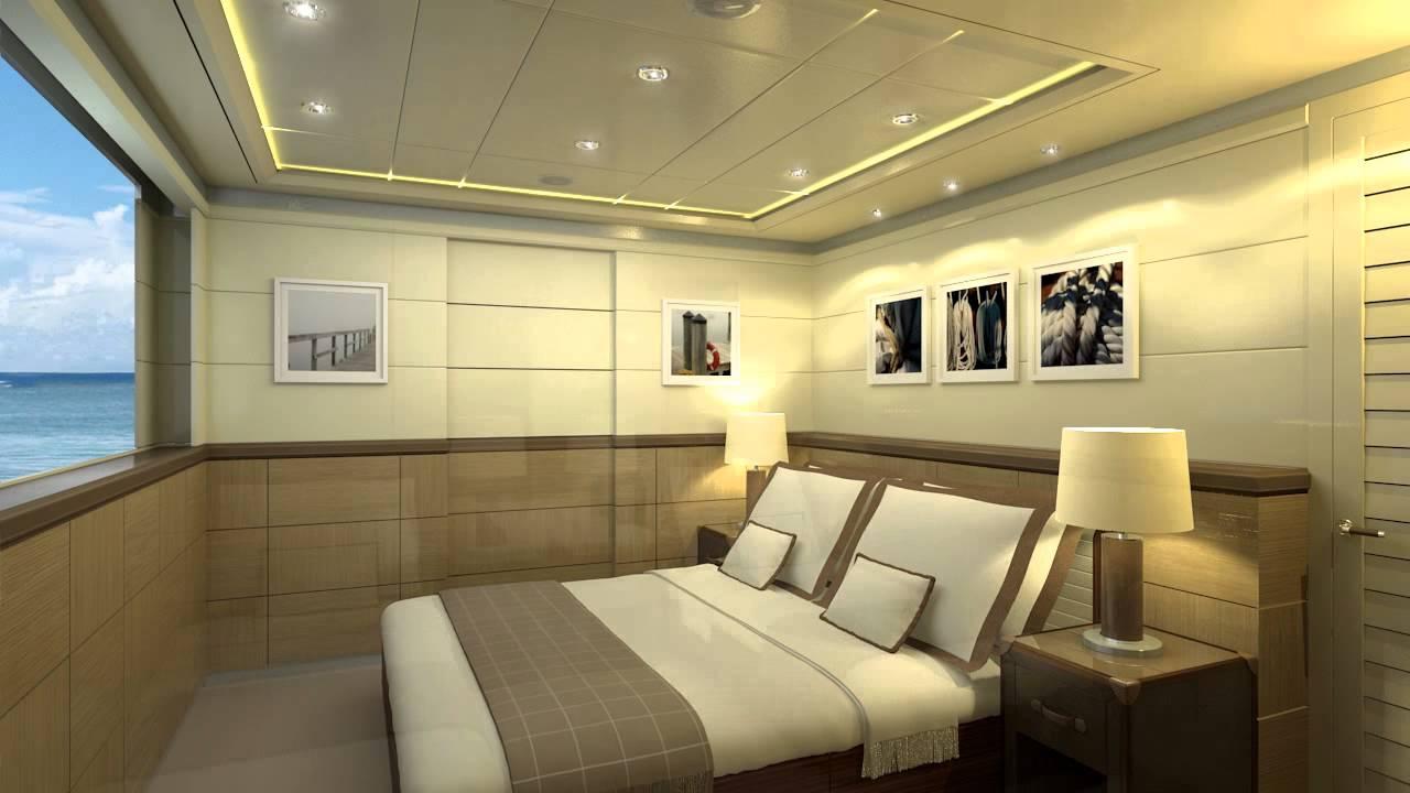 curvelle catamaran flexible cabin layouts youtube