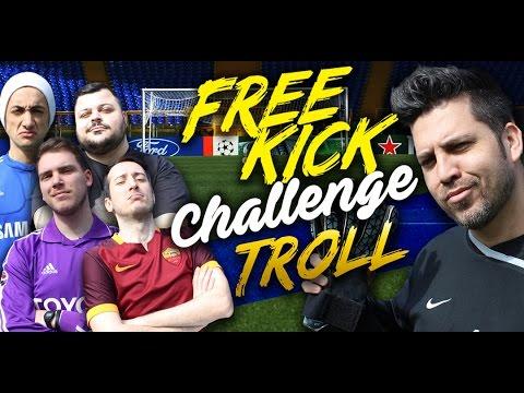 FREE KICK TROLL CHALLENGE - w/J0k3rOfficialTube - Sodin - MikeShowSha - IlVostrocaroDexter
