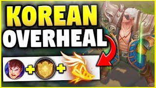 NEW KOREAN OVERHEAL BUILD ON GAREN! THE MOST BROKEN BUILD IN THE GAME RIGHT NOW! - League of Legends