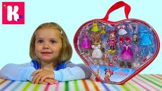 Набор Минни Маус с платьями распаковка игрушки Set Minnie Mouse with dresses unpacking toys