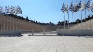 El estadio Panatenaico en Grecia.