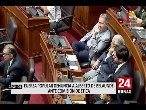 Congresistas opinaron sobre denuncia contra Alberto de Belaunde en Comisión de Ética