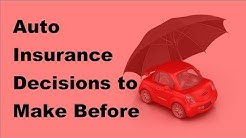 Auto Insurance Decisions to Make Before Buying a Car  - 2017 Auto Insurance Buying Tips