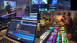 LEC Spring 2020 - Opening Ceremony. Behind the scenes - control room view
